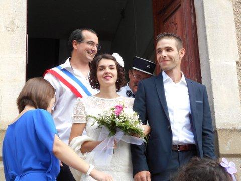 Cathy et Julien mariés