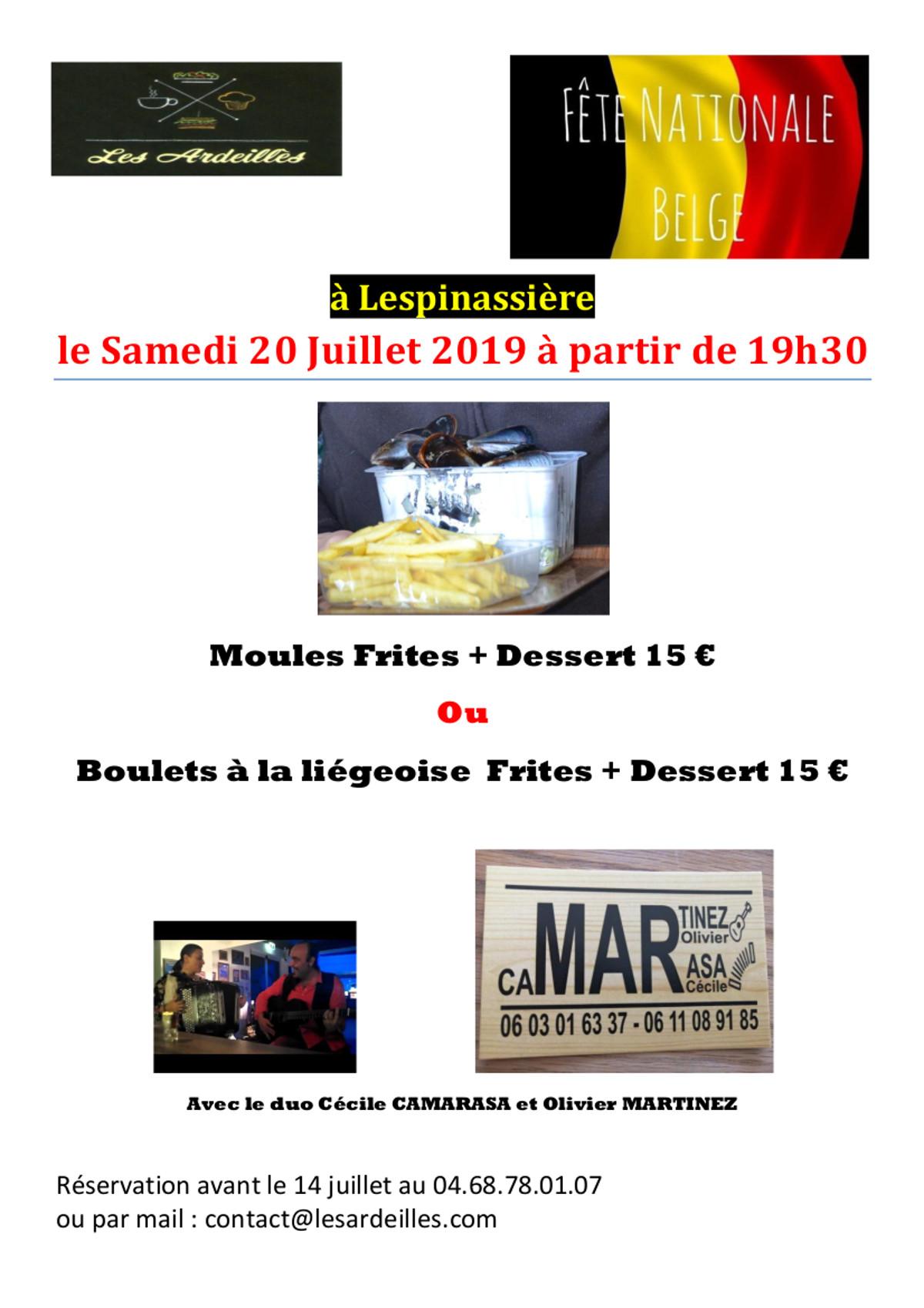 Fete des belges le 20 juillet 2019