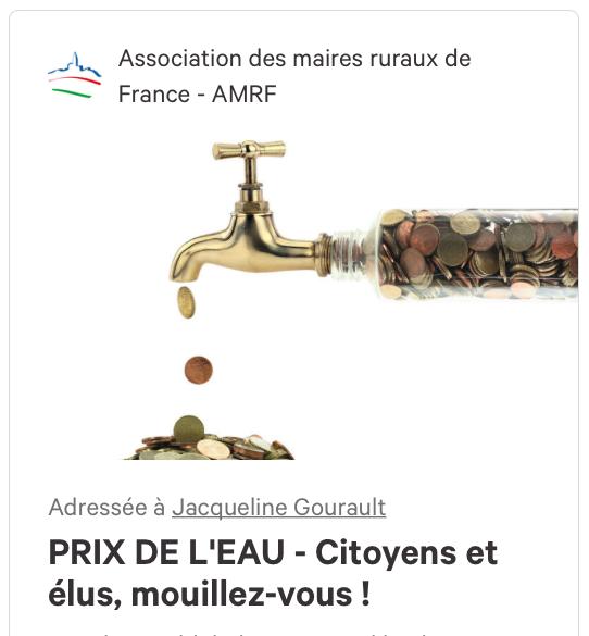 Petition eau assainissement amrf 2018