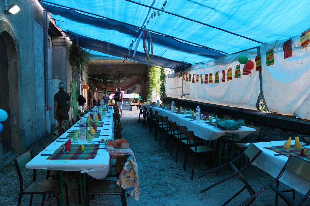 Les Tables décorées