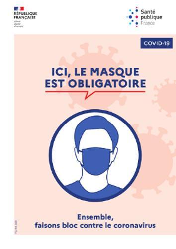 Affiche coronavirus masque obligatoire a4 fr