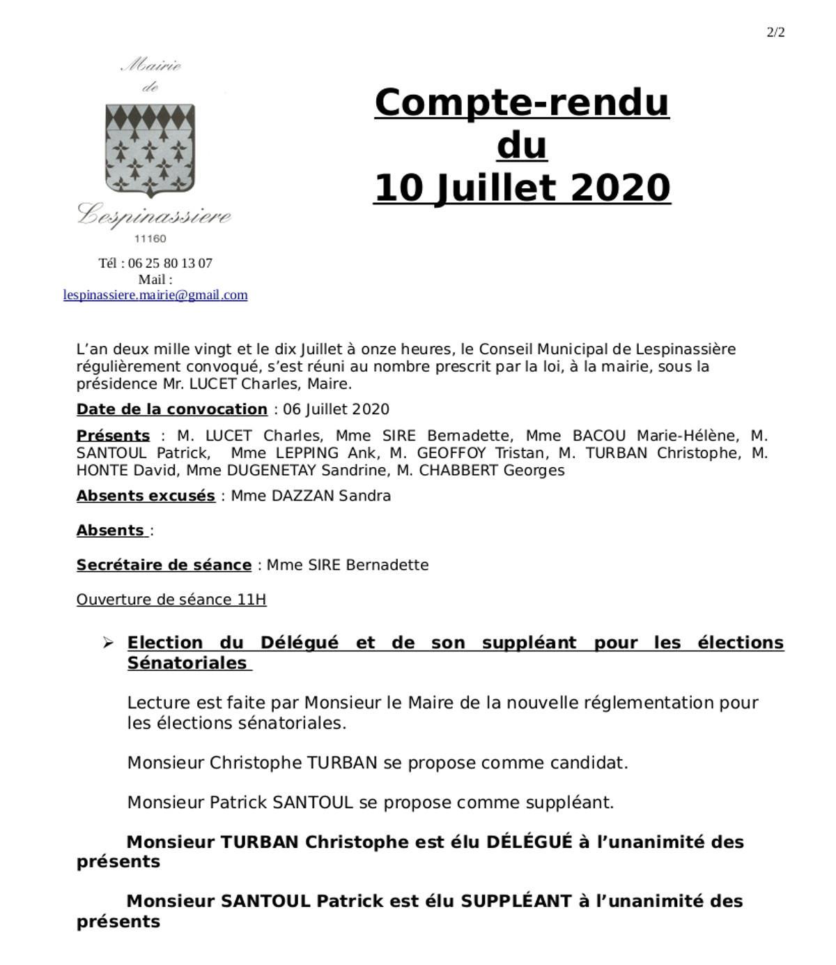 Compte rendu cm4 10 07 2020