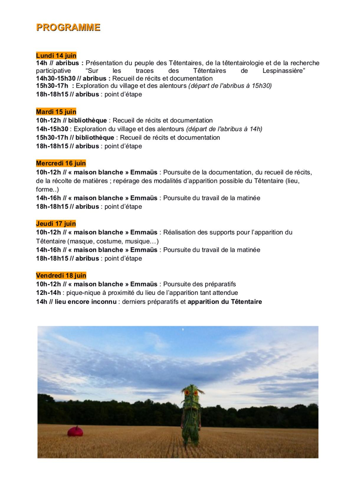 Presentation planning tetentaire a lespinassiere com village 1